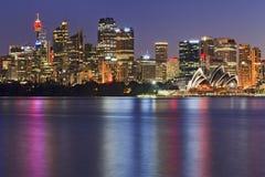 Sydney Cremorne zakończenia półmrok obrazy stock