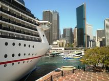 Sydney Cruise Ship Stock Photo