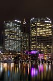 Sydney Darling Harbour by night Stock Photography