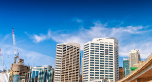 Sydney Darling Harbour skyline on a beautiful day Royalty Free Stock Photo