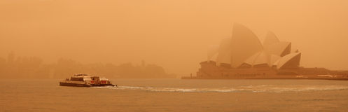 Sydney das September 2009: Der Tag lassen großes Sand strom alles Sy abdecken Lizenzfreies Stockbild