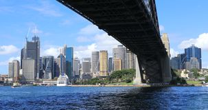Sydney, de haven en horizon 4K van Australië stock footage