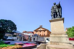 SYDNEY - 12 de octubre: HYDE PARK ACUARTELA EL MUSEO 1819, un sitio australiano del convicto del patrimonio mundial, el 12 de oct Imagen de archivo libre de regalías