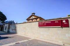 SYDNEY - 12 de octubre: HYDE PARK ACUARTELA EL MUSEO 1819, un sitio australiano del convicto del patrimonio mundial, el 12 de oct Foto de archivo