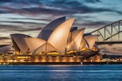 SYDNEY - 12 DE OUTUBRO DE 2015: Sydney Opera House icônico é uma MU Foto de Stock
