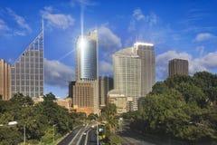 Sydney Domain Highway-stad Stock Afbeeldingen