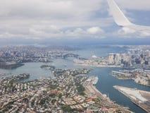 Sydney door de lucht Stock Foto's