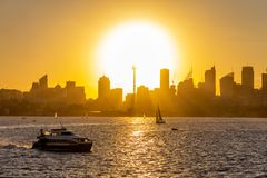 Sydney Down Town at Sunset stock photo