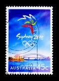 Sydney Emblem, serie dei giochi olimpici, circa 1999 Fotografia Stock Libera da Diritti
