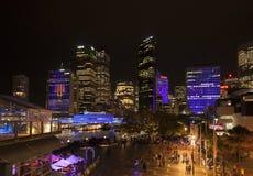Sydney en la noche Fotos de archivo libres de regalías