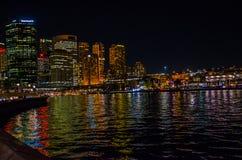 Sydney en la noche Foto de archivo libre de regalías