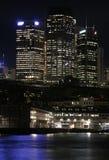 Sydney en la noche Imágenes de archivo libres de regalías