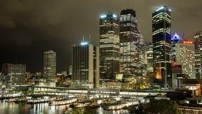 Sydney entro la notte stock footage