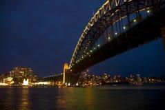 Sydney entro la notte Fotografia Stock Libera da Diritti
