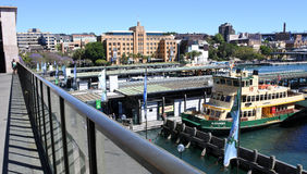 Sydney Ferries at Circular Quay ferry wharf in Sydney Australia Royalty Free Stock Photos