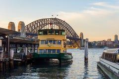 Sydney ferries by the harbour bridge Stock Image