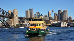 Sydney Ferry Boat & City Australia Royalty Free Stock Image