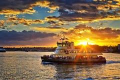 Sydney ferry at sunset Stock Image