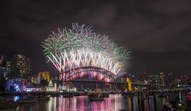 Sydney 2014 Feuerwerke Stockbilder