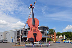 Sydney Fiddle. Sydney, Canada, - July 29, 2016: A monument to the Celtic heritage of Cape Breton the world's largest fiddle installed at the Sydney Marine Royalty Free Stock Image