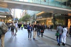 Sydney finansiell mitt Royaltyfria Foton