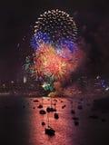 Sydney Firework Vertical Balls Royalty Free Stock Photo