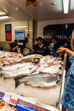 Sydney Fish market. On the day before christmas. It is very busy at the market as people scramble to buy fresh seafood for christmas day barbecues. Fish is royalty free stock images