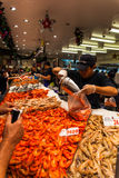 Sydney Fish market. On the day before christmas. It is very busy at the market as people scramble to buy fresh seafood for christmas day barbecues. Fish Stock Photography