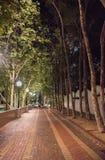 Sydney Footpath alla notte fotografie stock