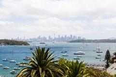 Sydney från långt Royaltyfri Bild