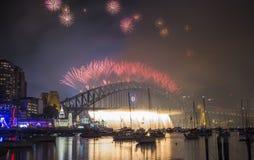 Sydney 2014 fuegos artificiales Fotos de archivo libres de regalías