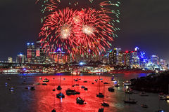 Sydney FW 2014 CBD schließen horizontales Lizenzfreies Stockfoto