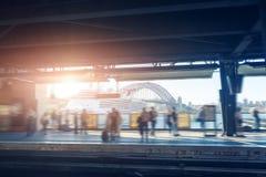 Sydney gångtunnelplattform Arkivfoto