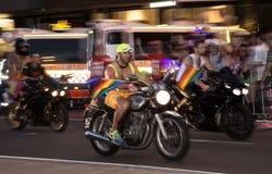 Sydney Gay och lesbisk kvinna Mardi Gras Arkivbild