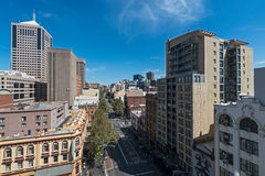 Sydney George Street city view from height Stock Photos