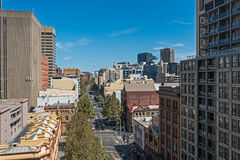 Sydney George Street city view from height Stock Images