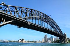 Sydney habour bridge in summer Royalty Free Stock Photos