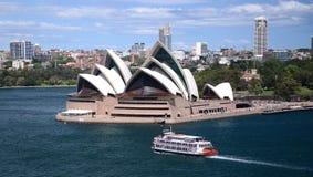 Sydney-Hafen Australien mit Opernhaus Lizenzfreie Stockbilder