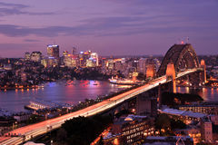 Sydney-Hafen-Brücke Lizenzfreie Stockfotografie