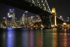 Sydney-Hafen-Brücke nachts Lizenzfreie Stockbilder