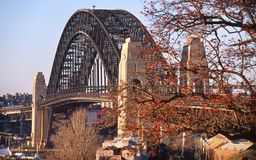 Sydney-Hafen-Brücke, New South Wales, Australien Lizenzfreie Stockfotos