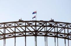 Sydney-Hafen-Brückengehen Lizenzfreie Stockfotos