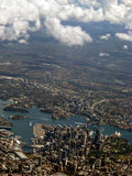 Sydney-Hafen-Luftaufnahme IMG_8320 Lizenzfreies Stockfoto