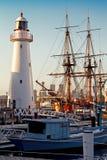 Sydney-Hafen mit Leuchtturm lizenzfreie stockfotografie