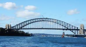 Sydney-Hafen-und Sydney-Hafen-Brücke Lizenzfreies Stockfoto