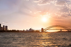 Sydney-Hafenbrücke und -Opernhaus Lizenzfreie Stockbilder