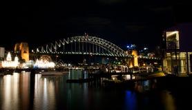 Sydney hamn av Natt Royaltyfri Fotografi