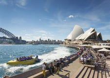 Sydney hamn i Australien vid dag Arkivfoton