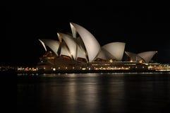 Sydney hamn på natten Royaltyfria Bilder