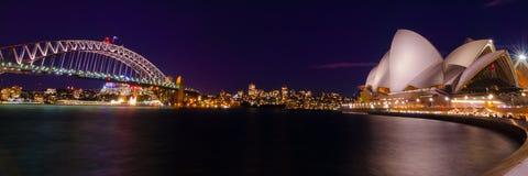 Sydney hamnpanorama Arkivfoto